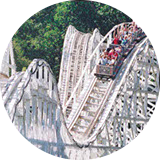 The Cannonball Wooden Roller Coaster Thrill Ride