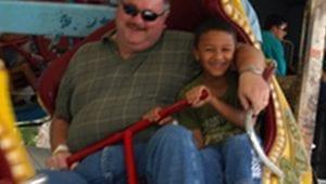 Family Having Fun on Kid Friendly Ride