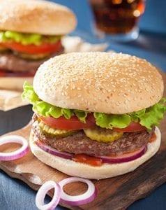 Hamburger at Lake Winnie Amusement Park