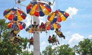 Parachute Family Friendly Ride at Lake Winnie