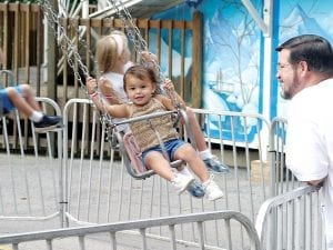Children's Swing Ride at Lake Winnie