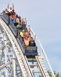 Roller Coaster Thrill Ride at Lake Winnie in Chattanooga