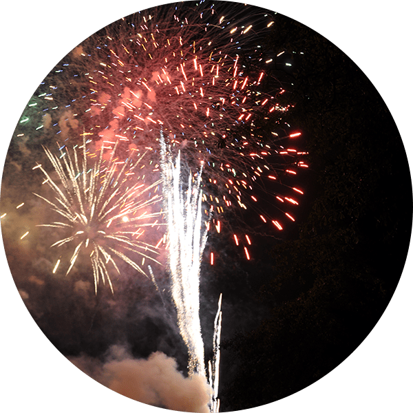 Amusement Park Fireworks Display