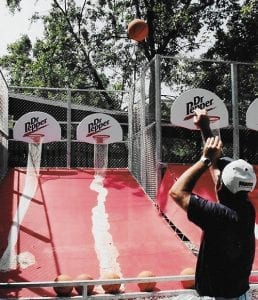 Basketball Shot Game at Lake Winnie Amusement Park