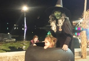 Mother Dressed as Witch at Lake Winnie in Chattanooga
